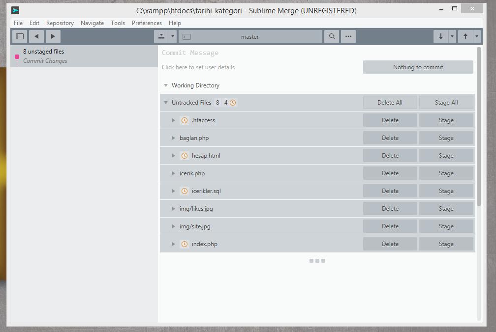 Açılan sayfada Working Directory alanını seçerek dâhil ettiğimiz dosyalar görebiliyoruz.