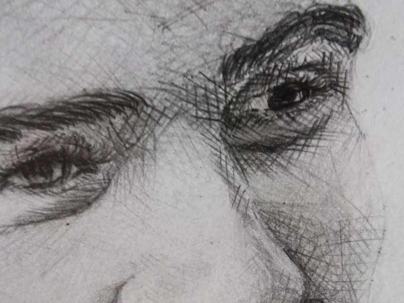 Taramanın portre üzerinde uygulaması (Göz ve burun)